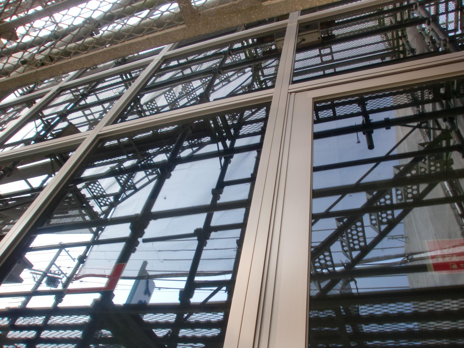 姫路市 土山 某企業カーテンウォール ハイドロテクトガラスコーティング